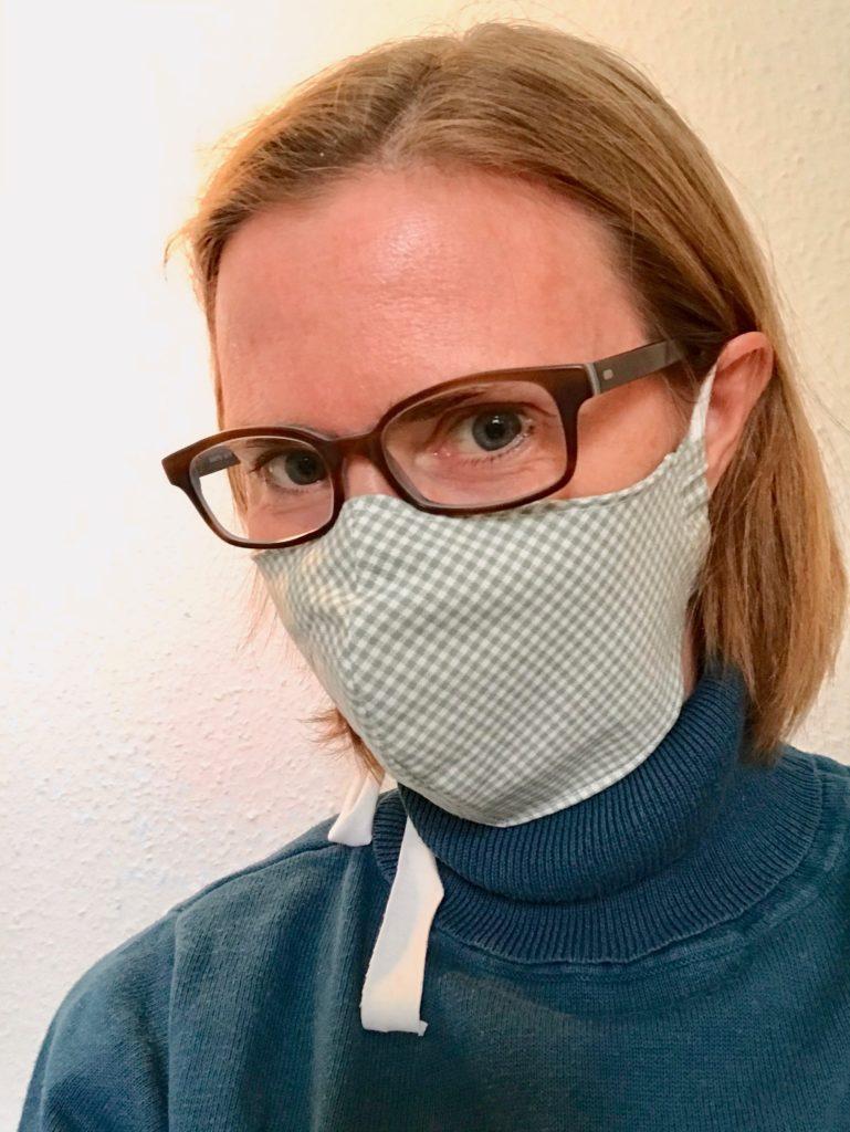 Maske im Einsatz